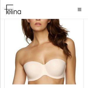 """NWT Nude """"Hint of Skin"""" Strapless Bra"""